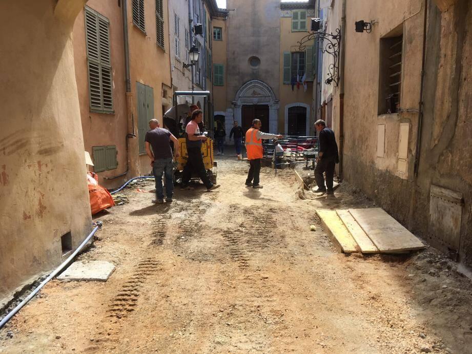 Le chantier démarré en début d'année devrait se poursuivre jusqu'à fin 2018-début 2019.