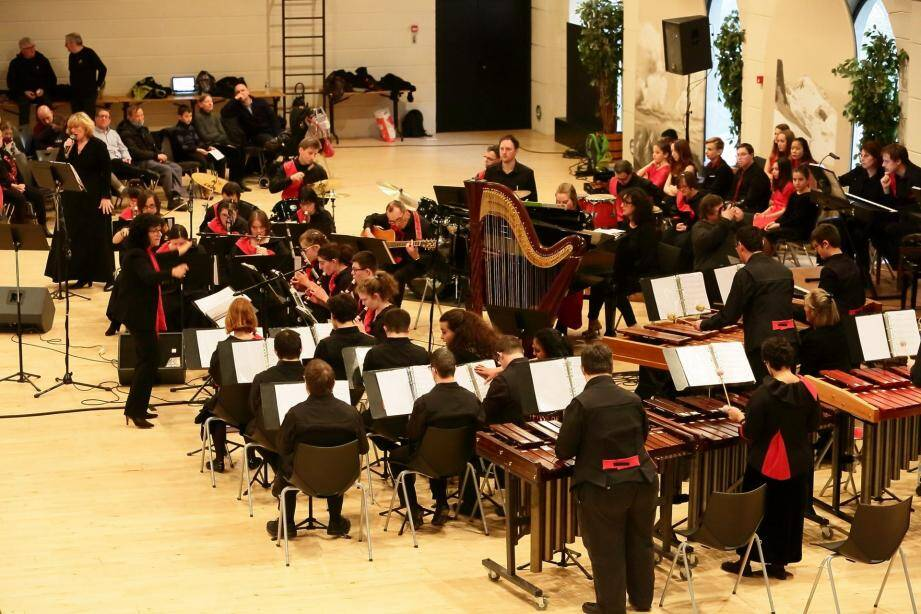 L'ensemble musical Tetras-Lyre de Chambérry en février dernier.(DR)
