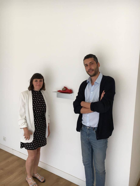 Arlène Berceliot Courtin et Thibault Vanco présente la première expression de leur projet, dans un espace éphémère à Beausoleil.