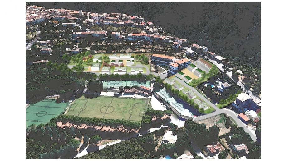 Les projet de centre village contemporain de Saint-Cézaire.(DR)