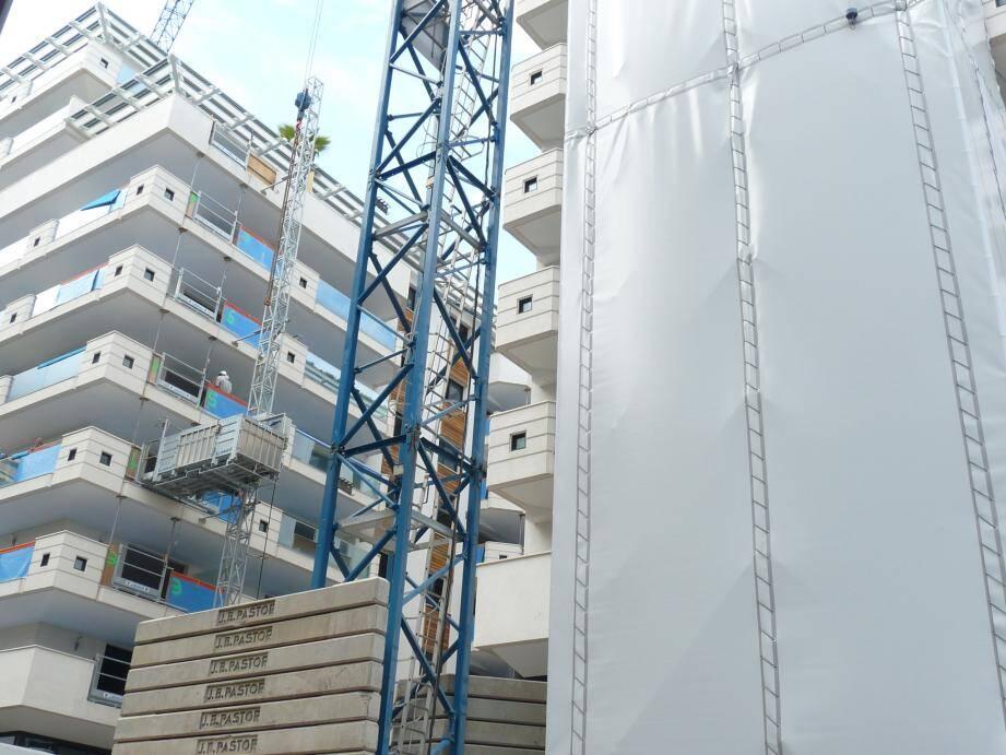 Le chantier, dans les bâtiments B et D, est entré en phase active depuis le mois de février.