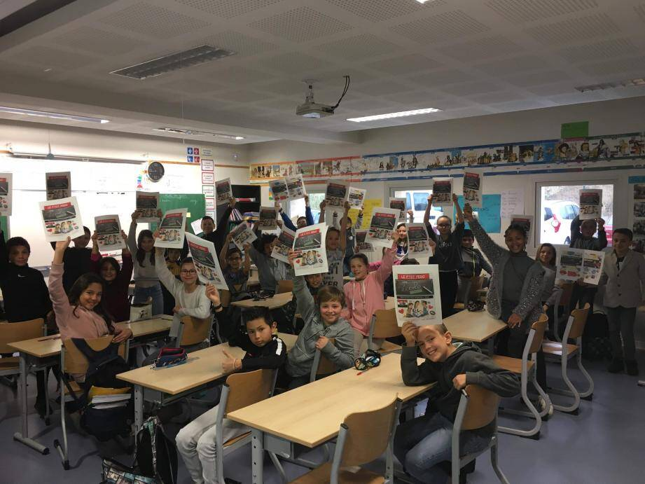 La classe de CM2 A de l'école de Marie-Curie a été la première à participer. Une autre prendra la relève.