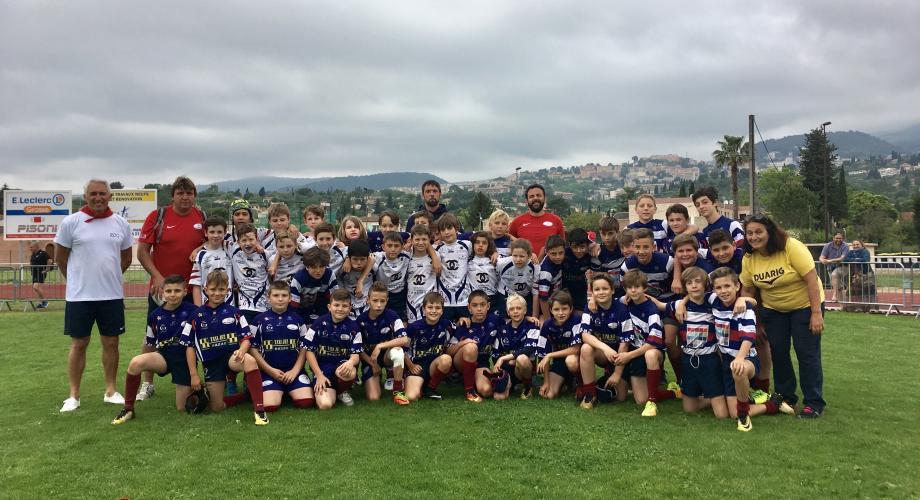 Les trois équipes U12 du Rugby Olympique de Grasse ont eu la chance de passer entre les gouttes le samedi.