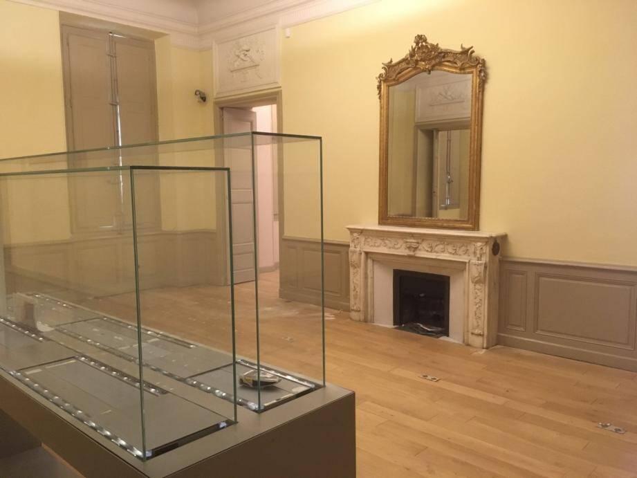 La première phase des travaux devrait s'achever à la fin du mois de juin. Elle concerne le 1er étage du musée ainsi que les salles situées au 2e sous-sol et donnant sur le jardin de l'hôtel Pontevès.