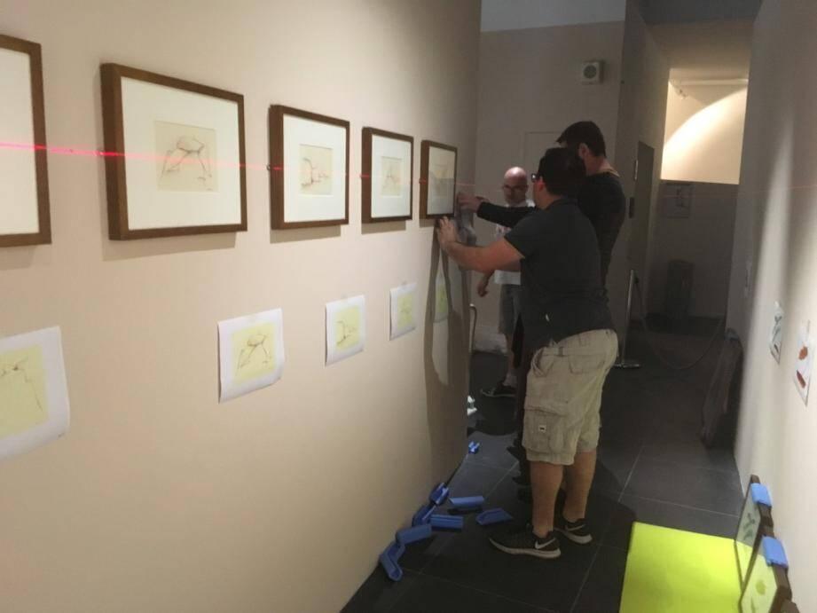 L'exposition est actuellement en cours d'installation dans la salle d'exposition temporaire du MIP.