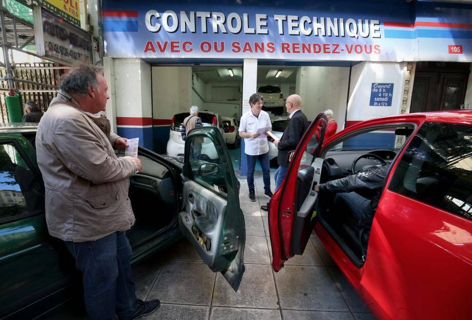 « C'est le feu » chez Autovision Nice Gambetta, comme dans la cinquantaine de centres azuréens agréés.