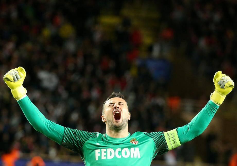 Danijel Subasic, 273 matches sous le maillot de l'AS Monaco depuis janvier 2012. Le taulier du club, c'est lui.