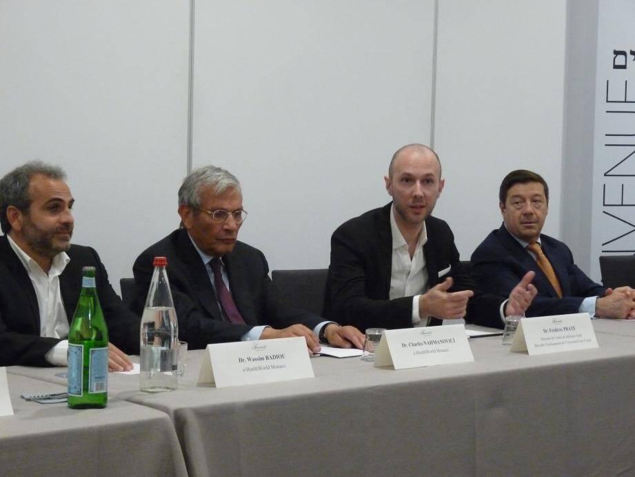 Aux côtés des professionnels de santé, le Dr Wassim Badiou et Dr Charles Nahmanovici, cofondateurs d'e-HealthWorld Monaco, ont présenté les évolutions de l'e-santé.