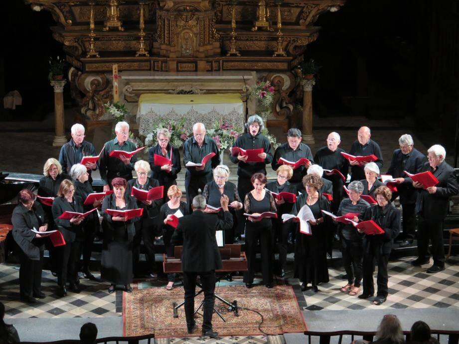 Concert de Sola Voce avec ses 40 choristes.(DR)