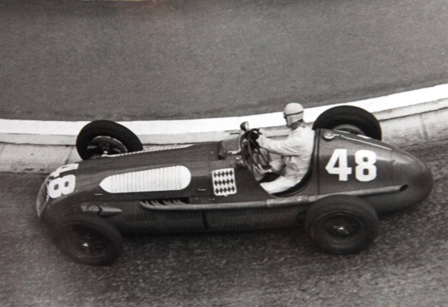 Louis Chiron au Grand Prix de Monaco 1950.