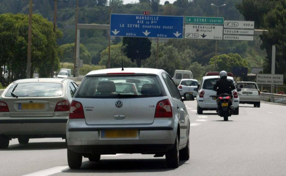 L'autoroute A50. Illustration.