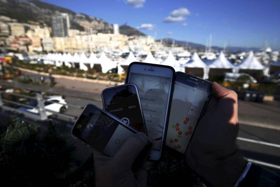 Un éventail d'application qui permet de mieux vivre Monaco.