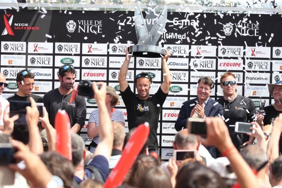 Thomas Coville vainqueur de la Nice Ultimed.