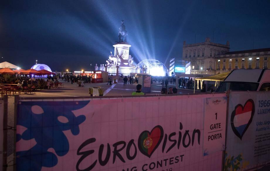 Lisbonne se met à l'heure de l'Eurovision.