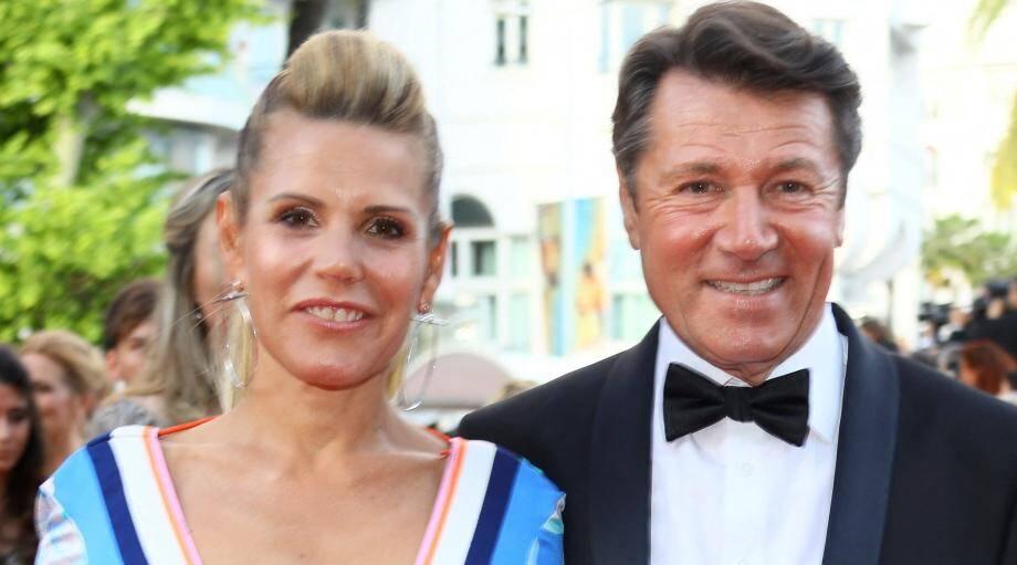 Laura Tenoudji et Christian Estrosi lors de la cérémonie d'ouverture du Festival de Cannes en 2018.