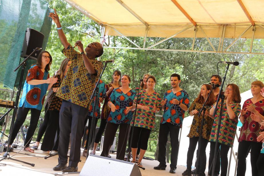 L'envoûtant groupe de Choral Gospel marseillais.