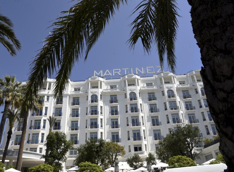 La façade de l'hôtel Martinez à Cannes.