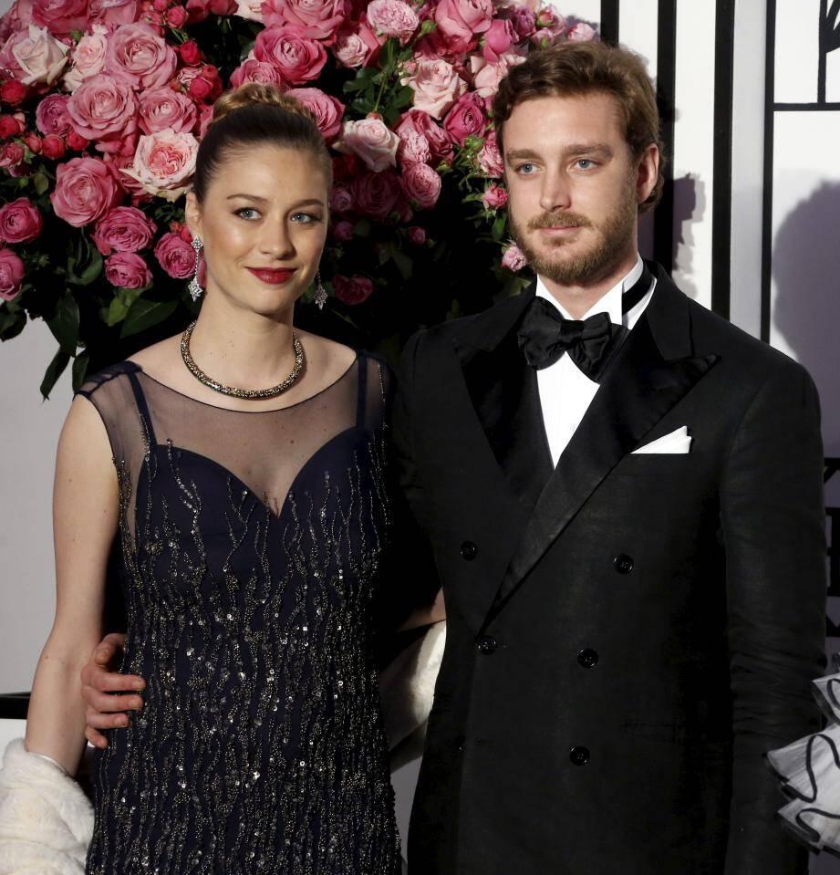 Pierre et Béatrice Casiraghi, lors du dernier Bal de la Rose.