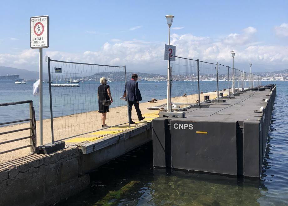 Le ponton 2 du débarcadère a déjà été fermé au public.