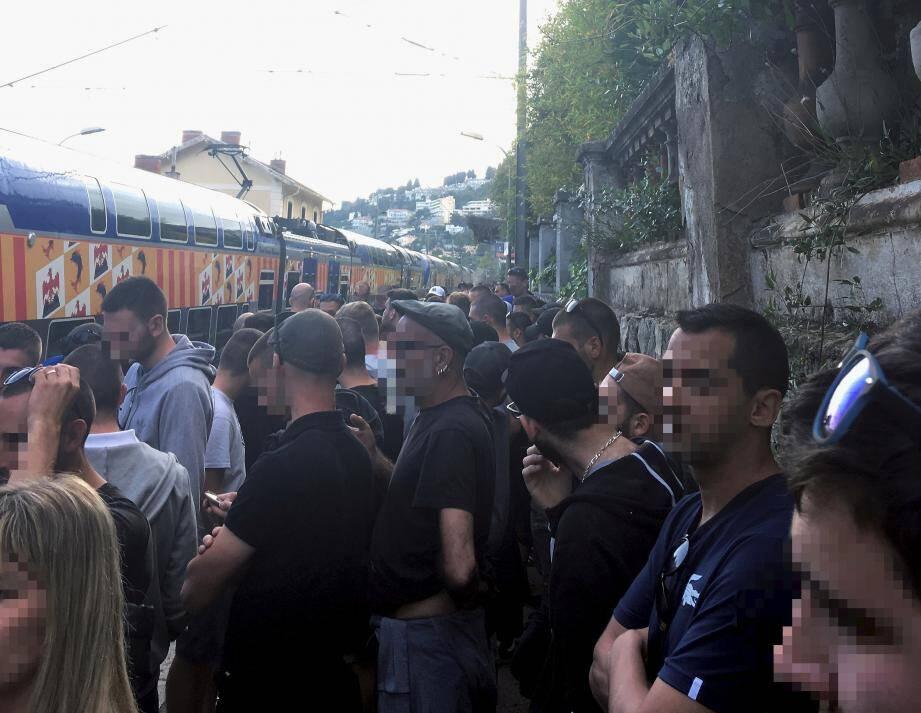 Les fans des Verts ont été reconduits vers l'Italie.