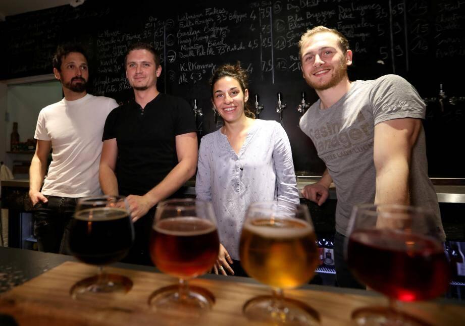 L'équipe du Beer District à Nice