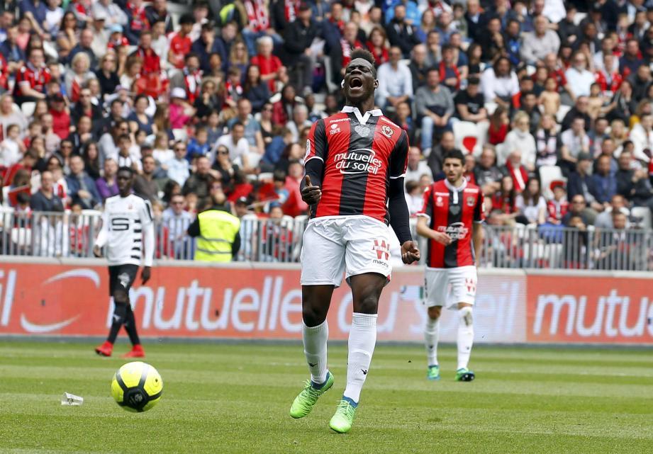 Mario Balotelli devrait disputer son dernier match à l'Allianz Riviera sous le maillot du Gym.