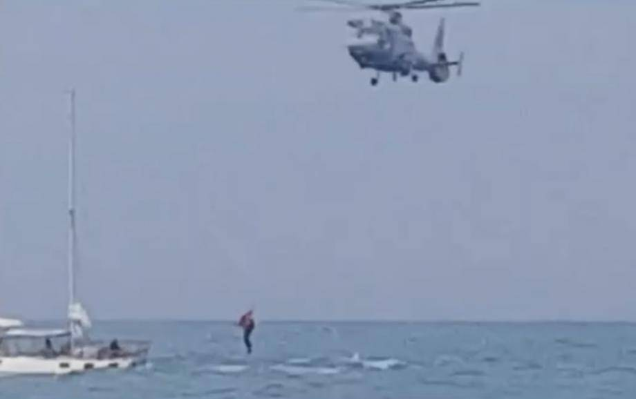 Sauvetage  hélicoptère de la Marine nationale