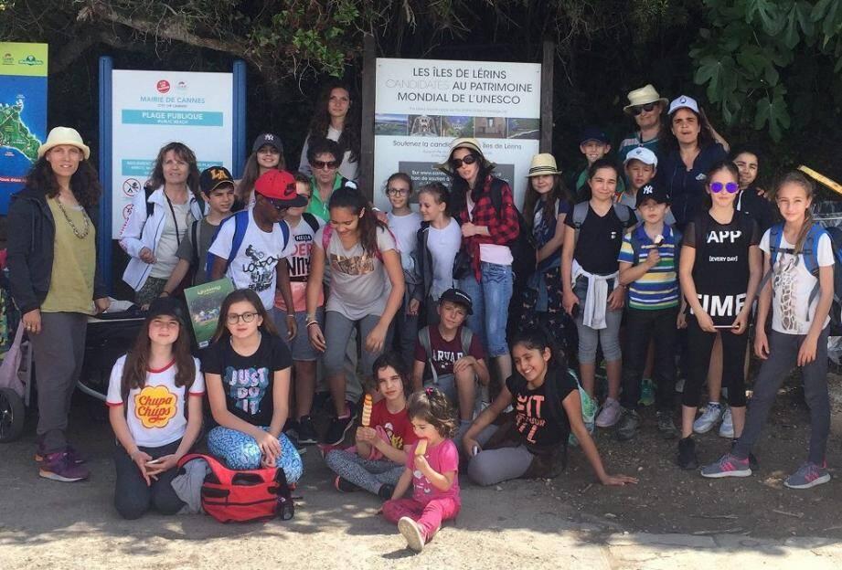 21 jeunes écoliers ont été sensibilisés au projet d'inscription des Îles de Lérins au patrimoine mondial de l'UNESCO.