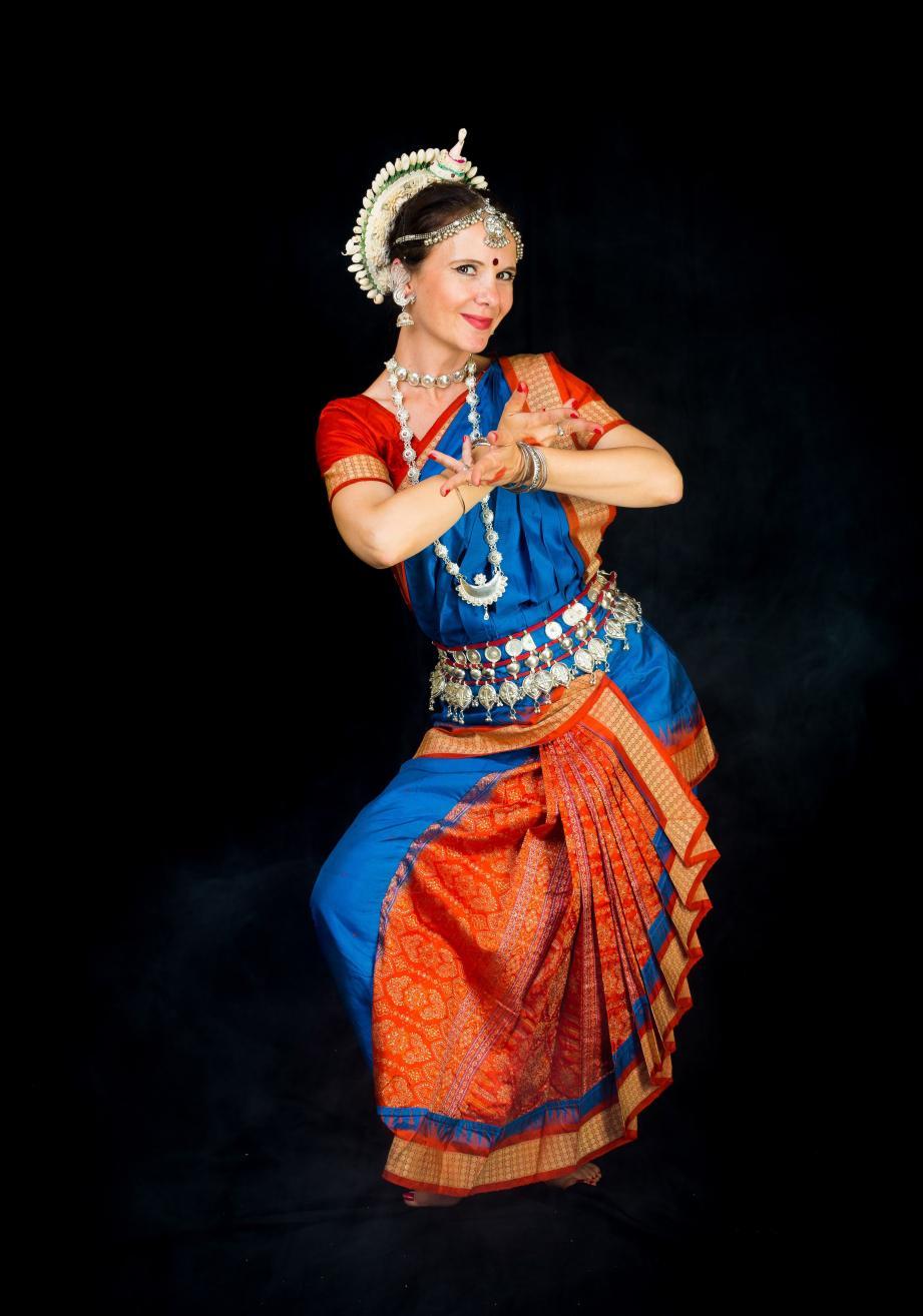 Marilyn Garcia Bernard, danseuse, chorégraphe et professeur de danse indienne. (DR)