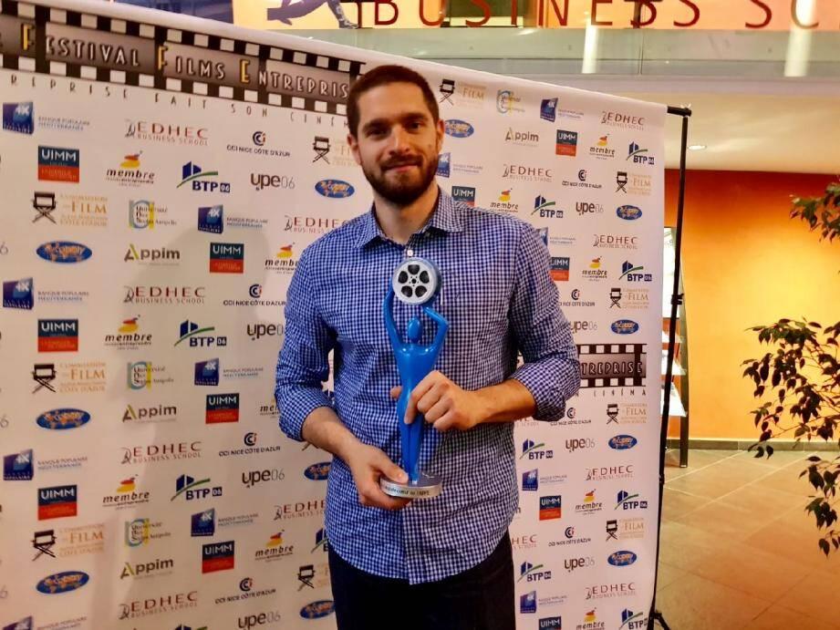 Kevyn Kohler, cofondateur d'Aktisea, ravi d'avoir remporté le Prix coup de cœur de l'AFFE.