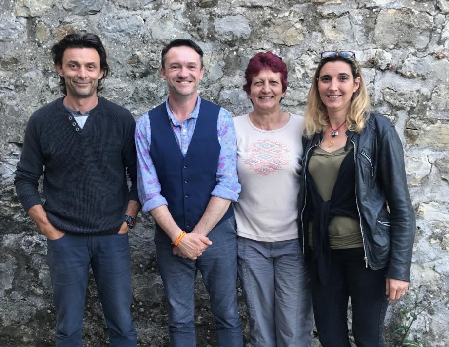 Aux côtés de Fabrice Lachenmaier : Ludovic Sanchez, 1er adjoint, Cathy Raines, 3e adjointe et Christelle Quirion, 2e adjointe.(DR )