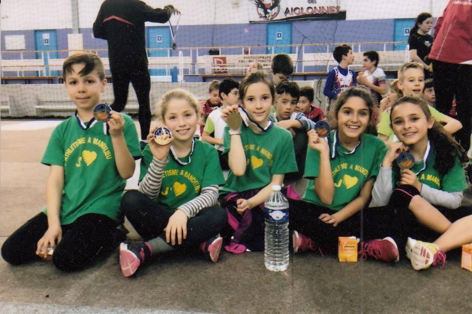 Une partie des jeunes de l'école d'athlétisme de Mandelieu.(DR)