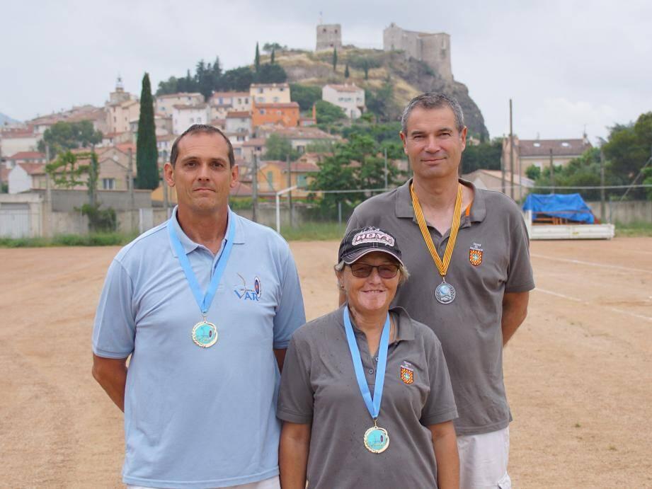 Bruno Escoffier, Madeleine Escoffier et Franck Gosselin.