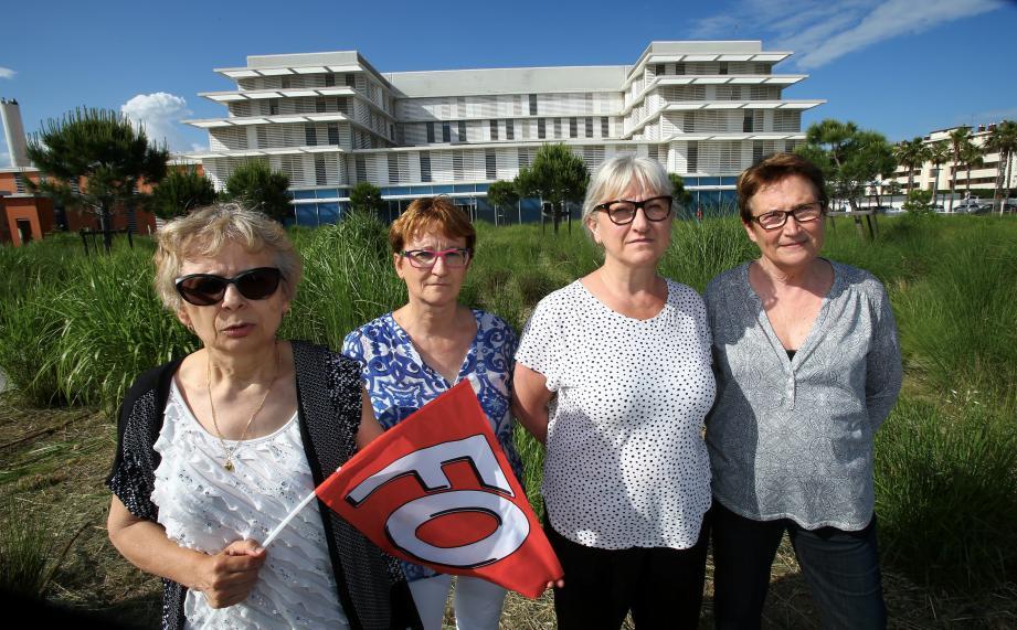 Les responsables du syndicat FO dénoncent « la précarisation des personnels de l'hôpital de Cannes ».