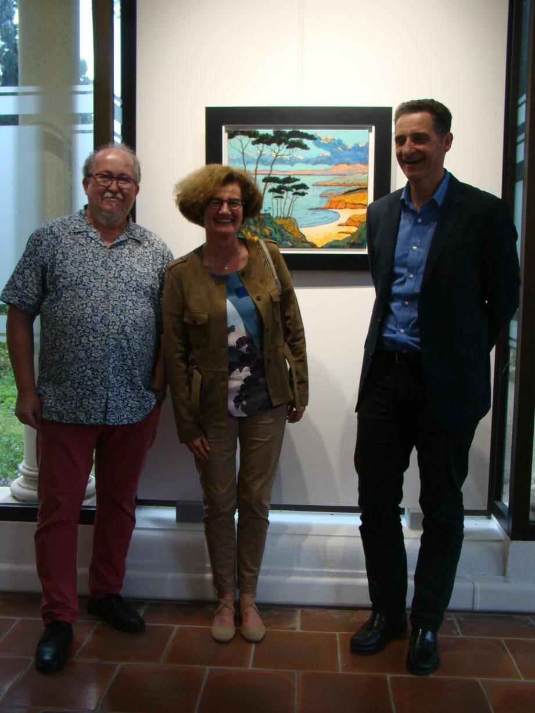 Yann Rebecq (à gauche) présente des œuvres très variées.