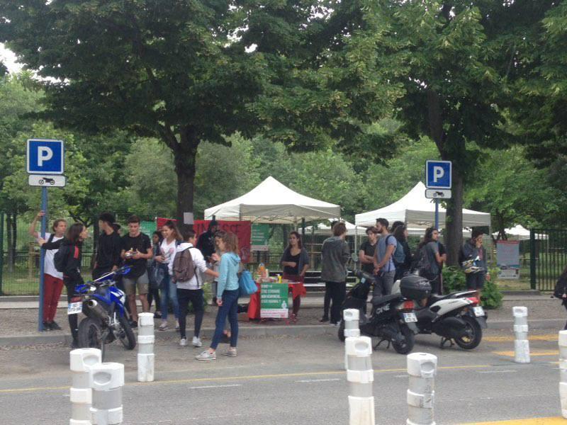 Le rassemblement des lycéens organisé par L'UNEF.(DR)