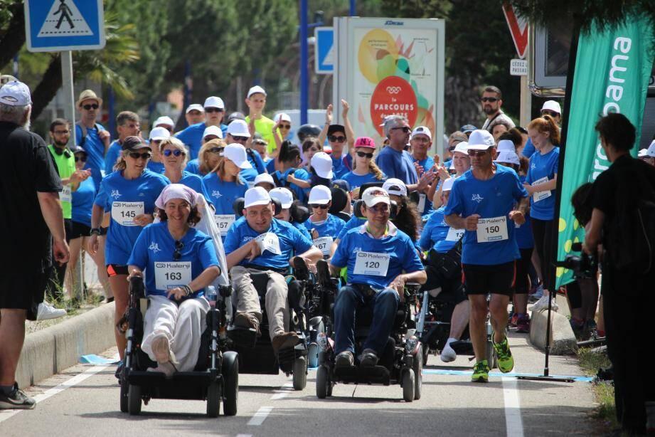 Belle mobilisation à l'Ayguade au profit de l'APF France handicap.