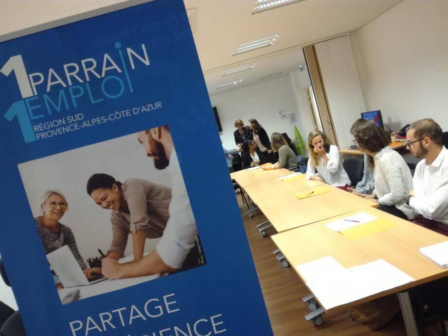 Le site de Draguignan accueillait mercredi dernier parrains et filleuls pour une première prise de contact.