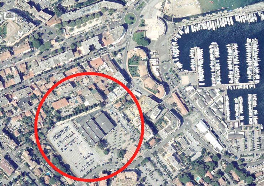 La zone encerclée en rouge est ciblée par ce projet Cœur de ville.