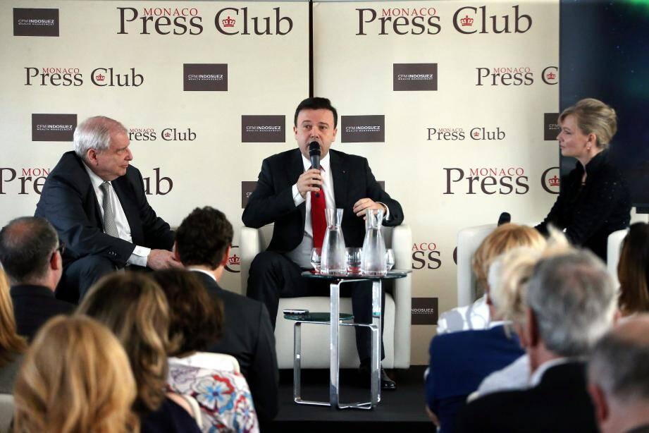Stéphane Valeri interrogé mercredi par les membres du Monaco Press Club.