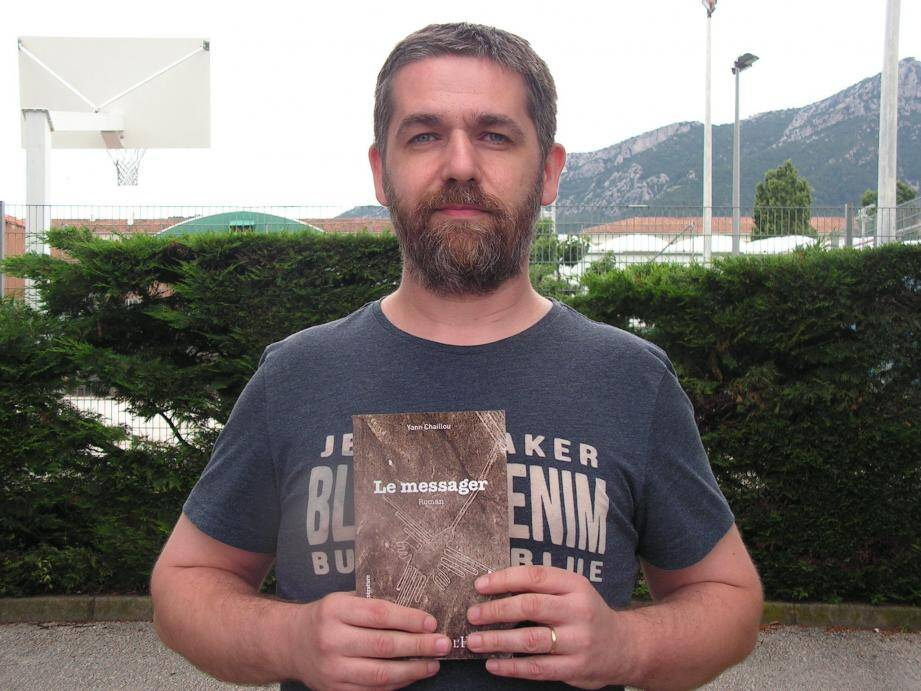 Yann Chaillou et son livre « Le Messager » qui a séduit les éditions L'Harmattan.