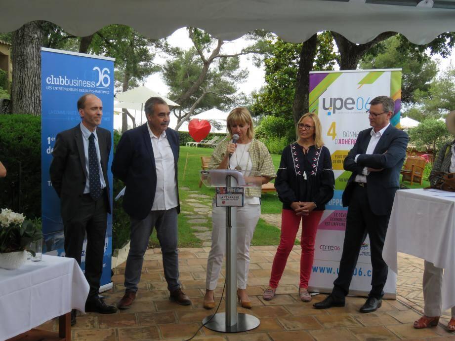 Catherine Le Lan, maire de Vence, accueillait hier L'UPE 06 et le Club Business 06 pour signer une première convention pour le festival Nuits du Sud.(DR)