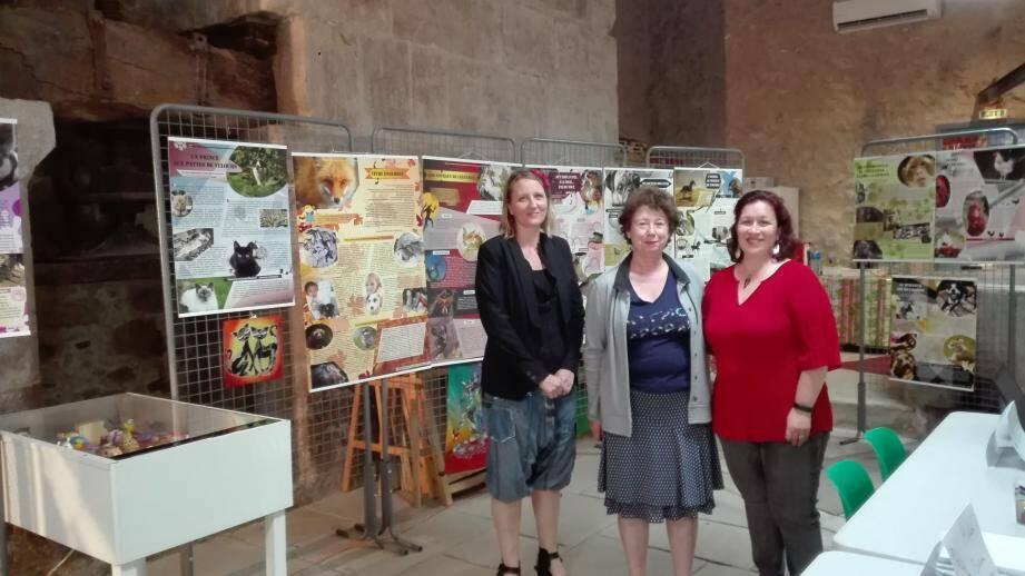 Chantal Passeron, présidente de l'association Histoire et patrimoine, a présenté cette exposition qui aborde un autre regard sur l'animal, l'homme et la vie sur la terre.