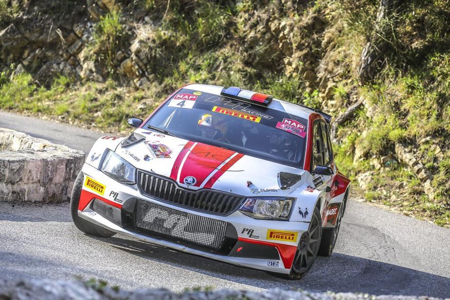 La Skoda Fabia R5 de Bruno Riberi fait partie des favoris de ce rallye.