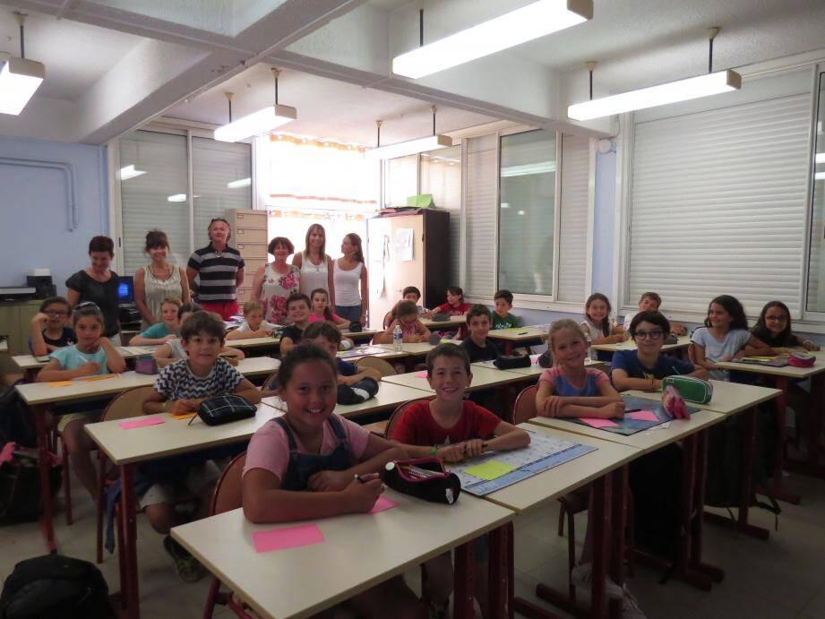 Les enfants ont été sensibilisés au handicap avec l'association Adapt Var. (photo A. B.)