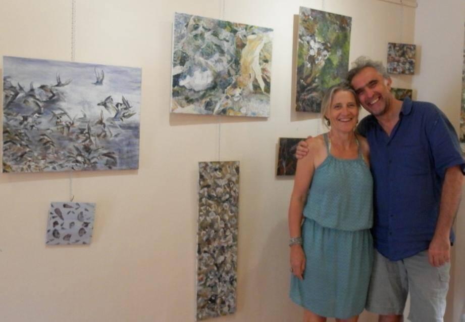 Des artistes heureux d'exposer leurs œuvres à Porquerolles.