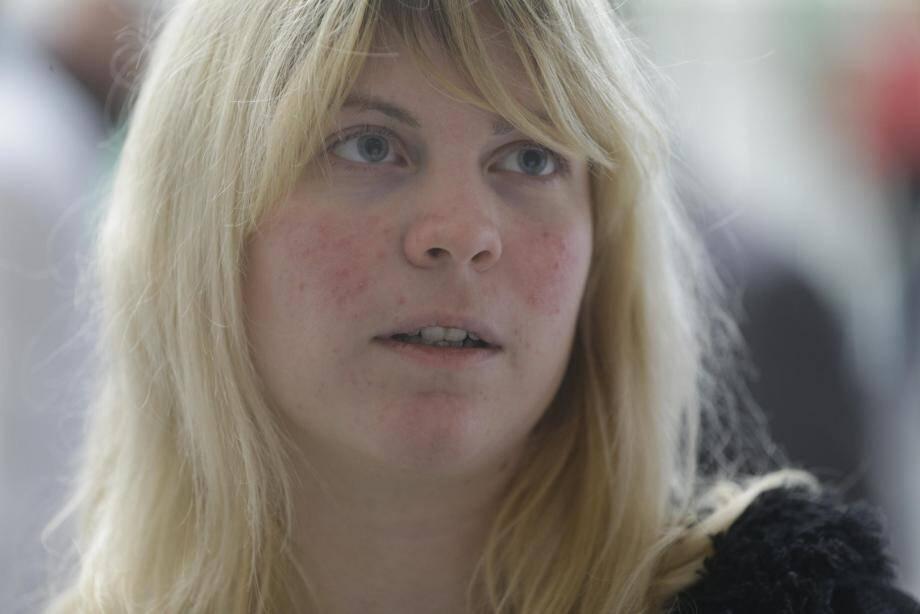 Sabrina, éprouvée mais rassurée, à son arrivée à Nice.