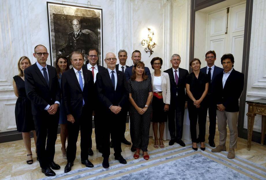 Le Club Eco de Monaco s'est réuni à la Résidence du Ministre d'Etat.