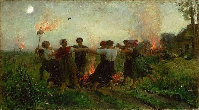 Fête de la Saint-Jean par J. Breton, 1875.(DR)