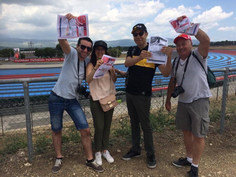 Samedi, Fabien, Kimberley, Damien et José ont mis deux heures pour rallier le circuit depuis Six-Fours. Autant dire rien, en comparaison des bouchons monstres de la veille.